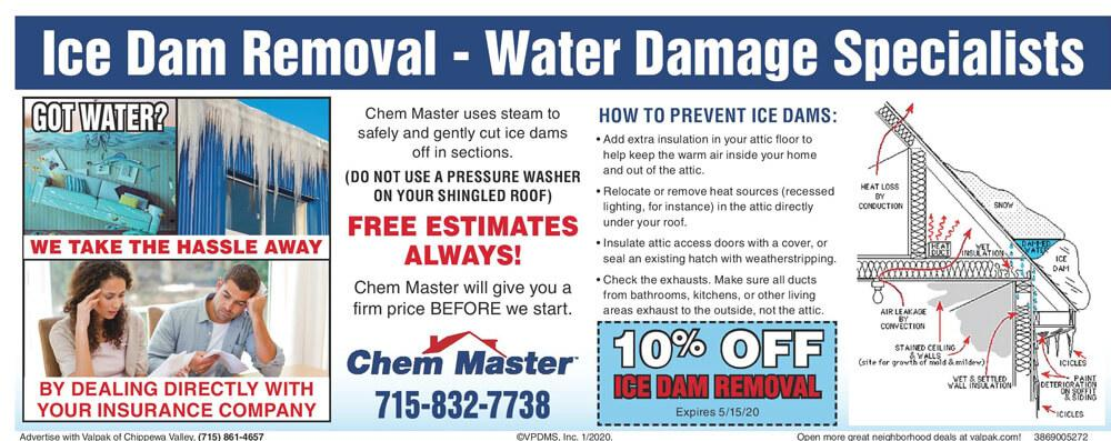 10% Off Ice Dam Removal