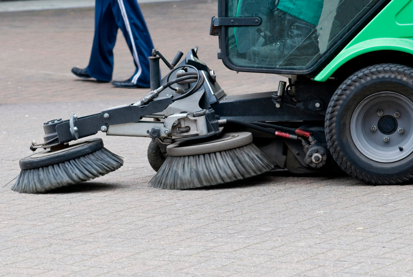 Don't wait!  Parking lot sweeping in Black River Falls, WI